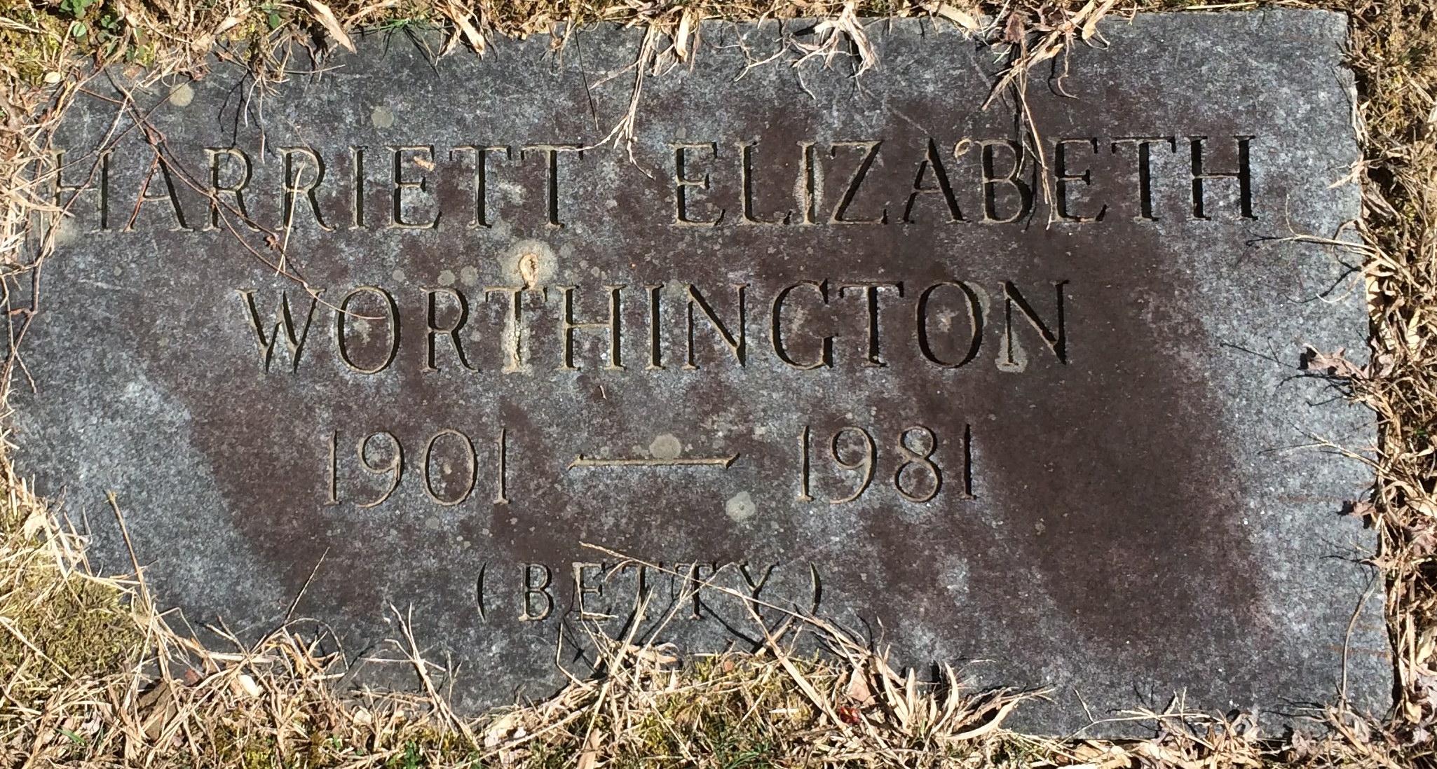 Harriett Elizabeth Betty <i>Worthington</i> Briscoe