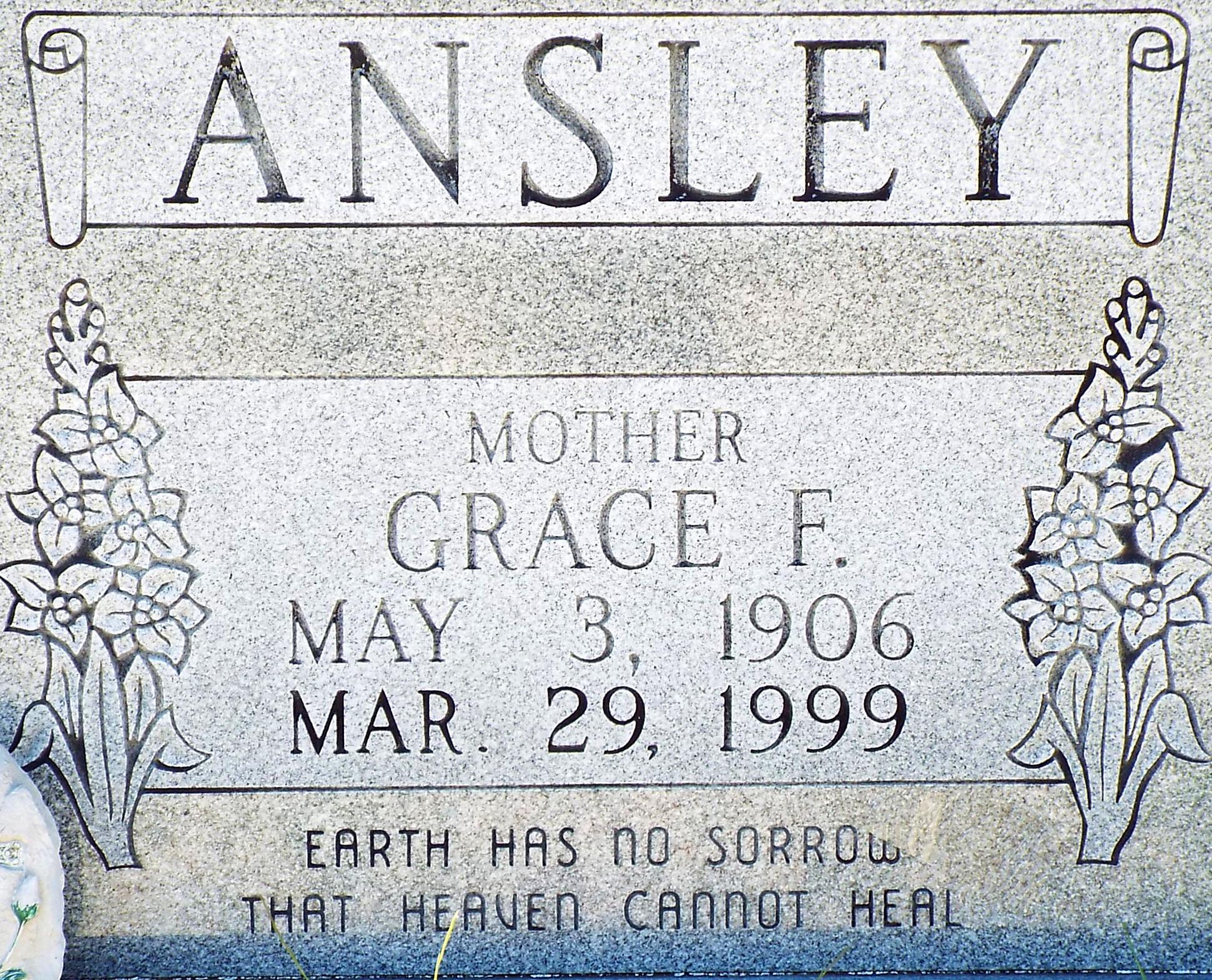 Frances Grace <i>Burks</i> Ansley