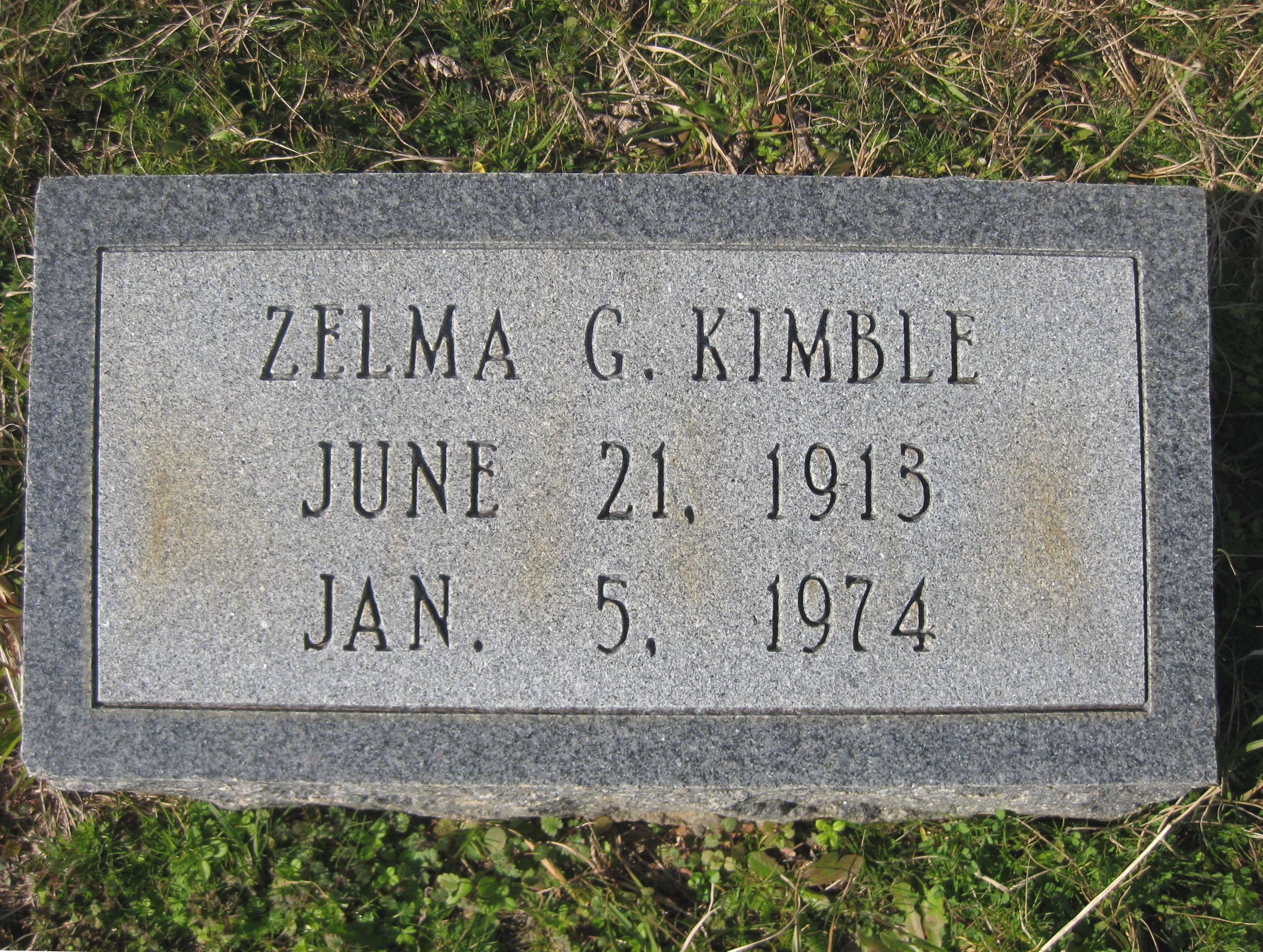 Zelma G. <i>Key</i> Kimble