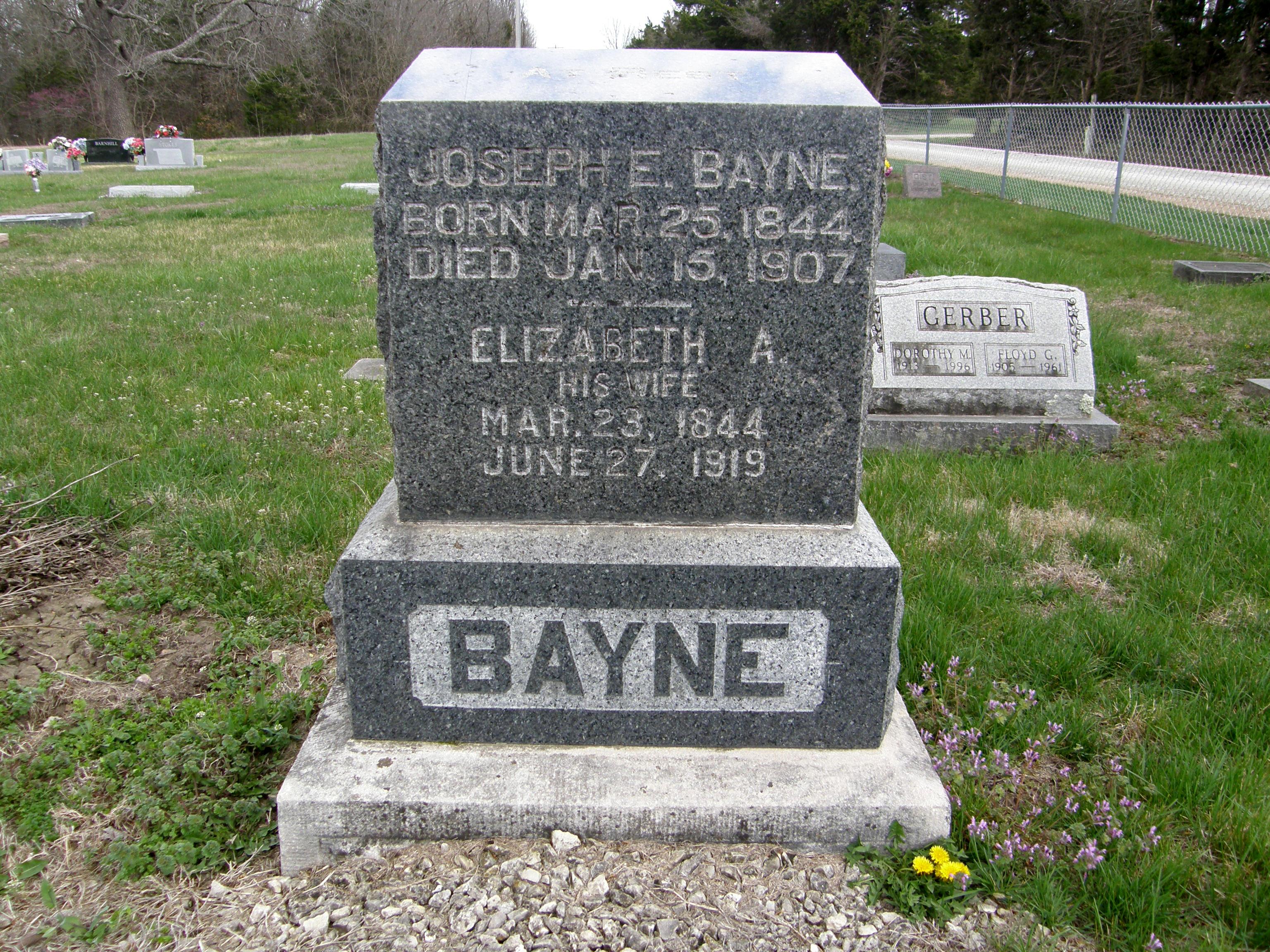 Elizabeth A. <i>Lyon</i> Bayne