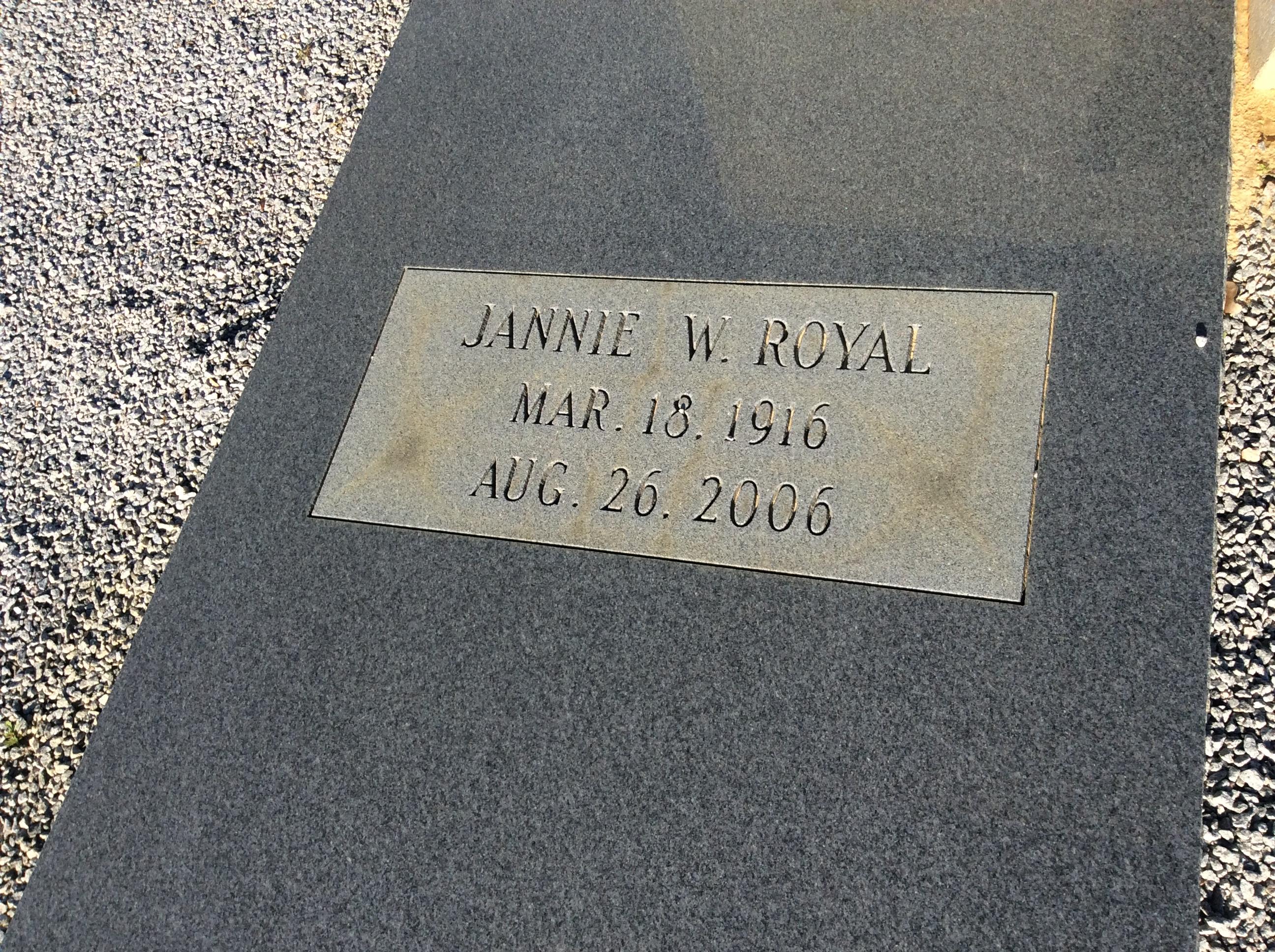 Jannie <i>Williams</i> Royal