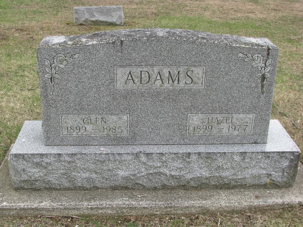 Hazel E <i>Rhodes</i> Adams