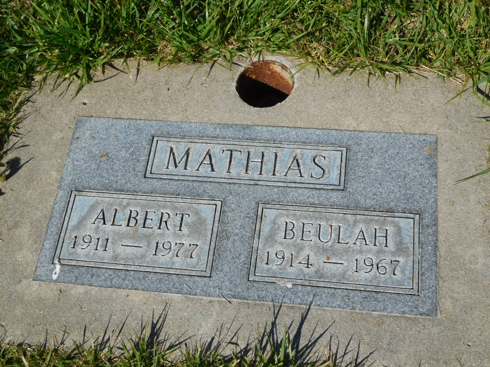 Beulah Elizabeth <i>Horner</i> Mathias