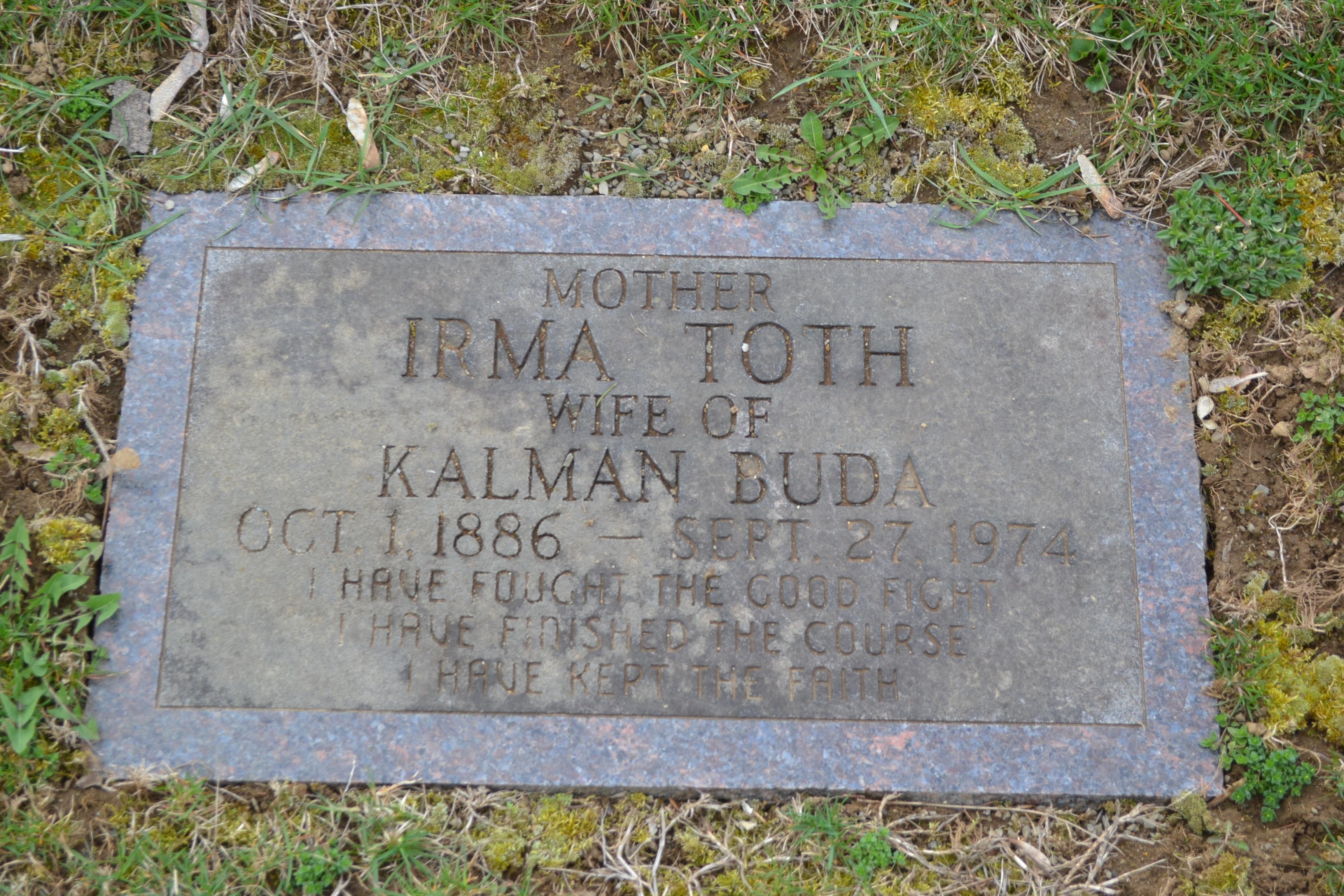 Irma <i>Toth</i> Buda