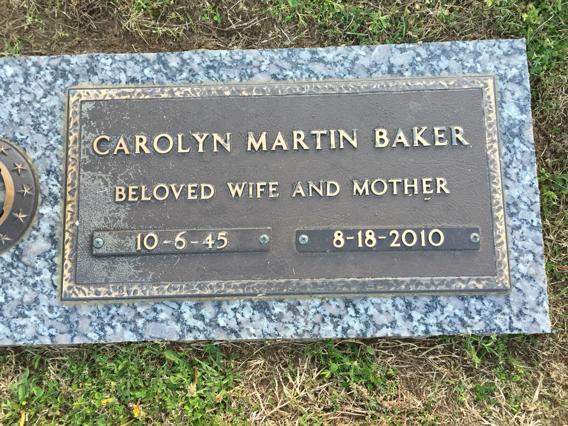 Carolyn <i>Martin</i> Baker