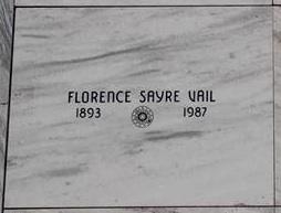 Florence Maryette <i>Sayer</i> Vail