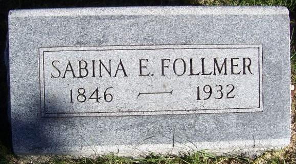 Sabina C. Bina <i>Hobbs</i> Follmer