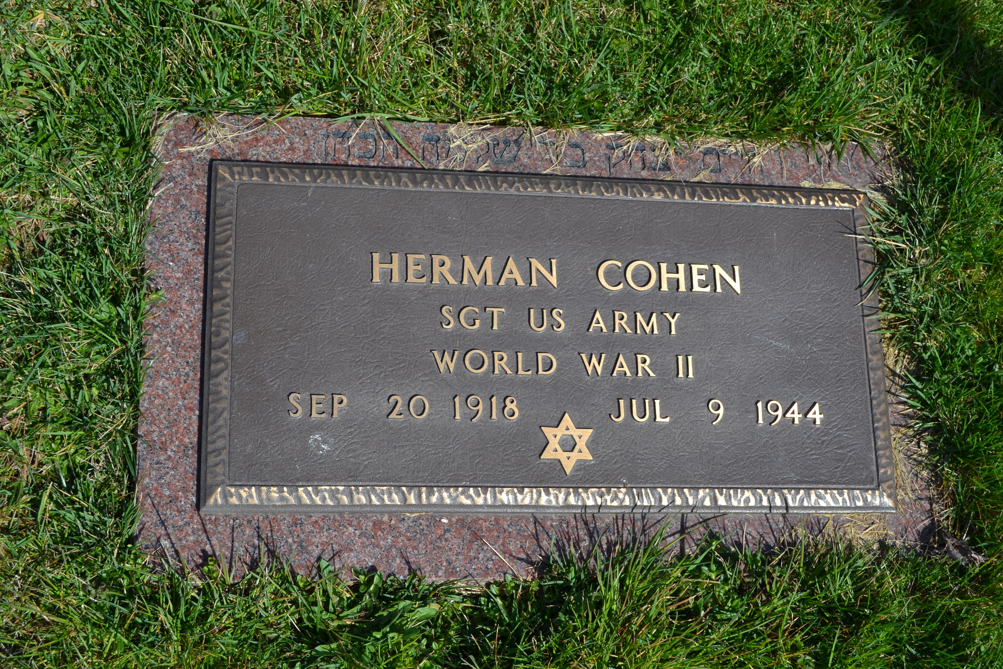 Sgt Herman Cohen