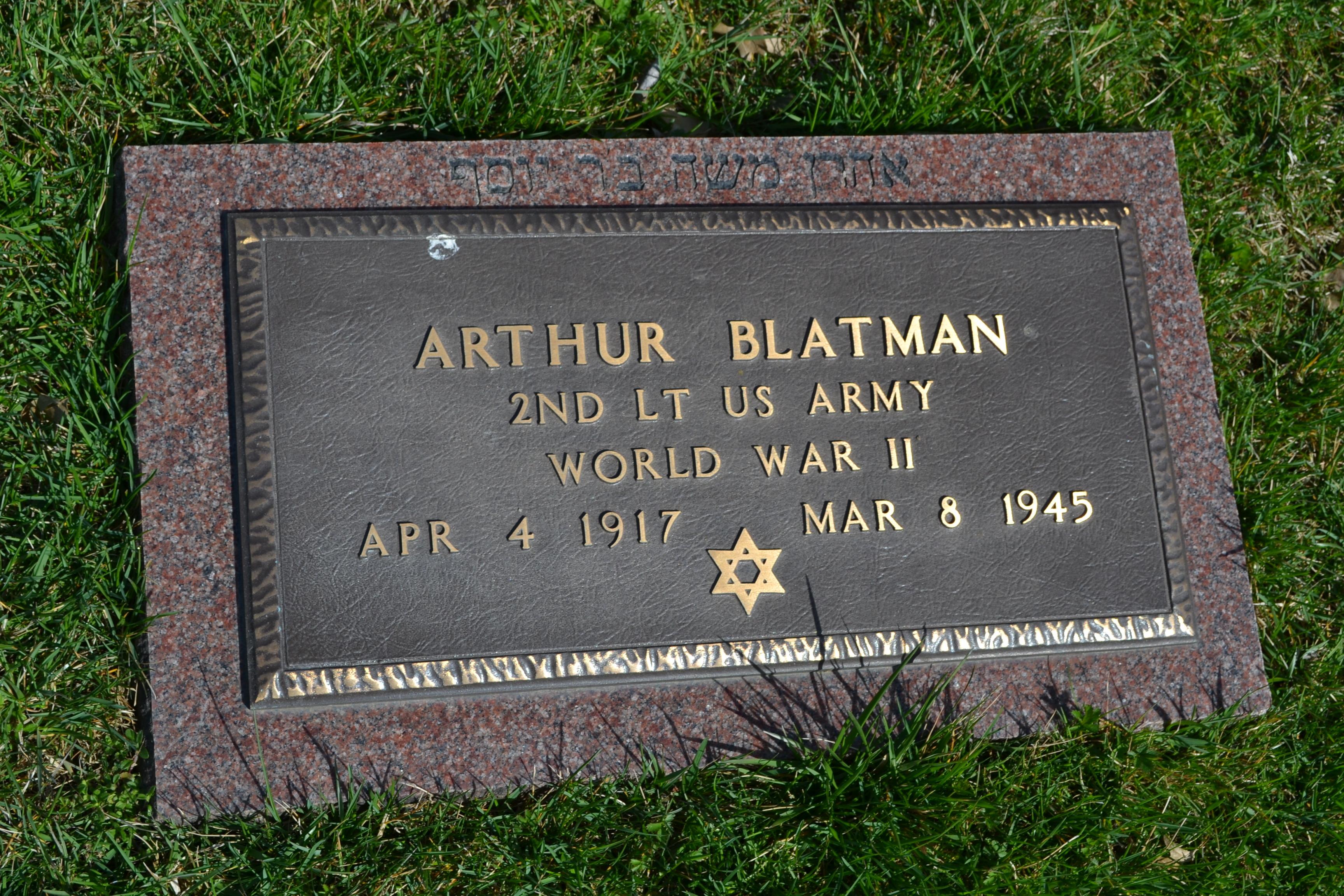 Lieut Arthur M Blatman