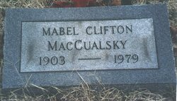 Mabel Laura <i>Clifton</i> MacCualsky