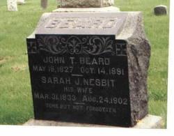 Sarah J <i>Nesbit</i> Beard