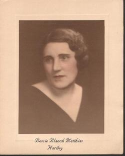 Bessie Blanch <i>Matthias</i> Hartley