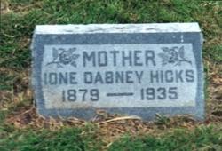 Ione <i>Dabney</i> Hicks