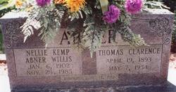 Nellie Lucinda <i>Kemp</i> Abner/Willis