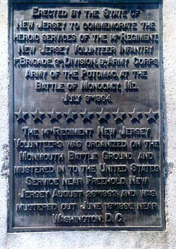 14th New Jersey Infantry Monument