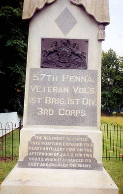 57th Pennsylvania Infantry Monument