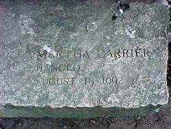Martha <i>Allen</i> Carrier
