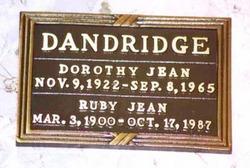 Dorothy Jean Dandridge