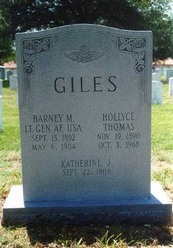Gen Barney McKinney Giles