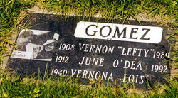 Vernon Lefty Gomez