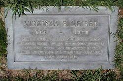 Virginia B. <i>Bronson</i> Leiber