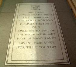Royal norfolk Regiment Memorial