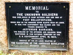 Unknown Soldiers of Fort Bellefontaine Memorial
