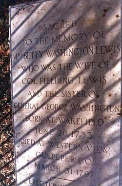 Betty <i>Washington</i> Lewis