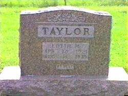 Lottie M <i>Burton</i> Taylor