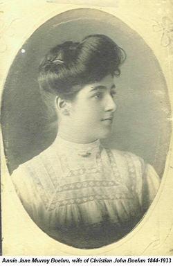 Annie Jane <i>Murray</i> Boehm