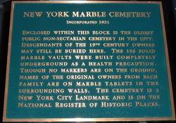 New York Marble Cemetery, 2nd Ave