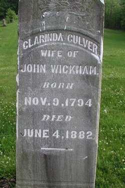 Clarinda <i>Culver</i> Wickham