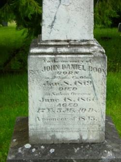 Rev John Daniel Boon
