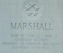 Gen George Catlett Marshall, Jr