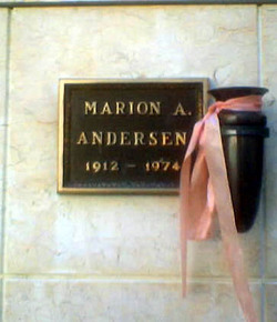Marion A Andersen