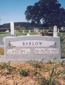 Ora Frances <i>Wolfe</i> Barlow