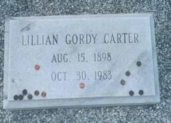Bessie Lillian Miss Lillian <i>Gordy</i> Carter