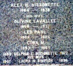 Delphia Louis Del Bissonette