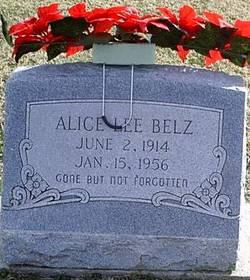 Alice Lee <i>Wynigar</i> Belz