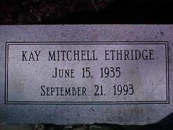 Kay Frances <i>Mitchell</i> Ethridge