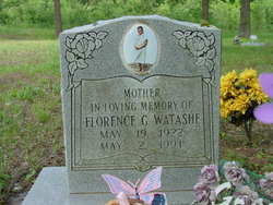 Florence G <i>Morrison</i> Watashe