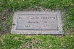 Carrie Alice <i>Pfalser</i> Anderson