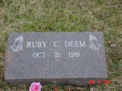 Ruby C <i>McClung</i> Deem