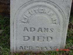 Lieut Thomas Adams