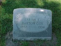 Sarah E <i>Barton</i> Cox