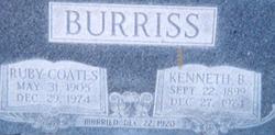 Ruby Beatrice <i>Coates</i> Burriss