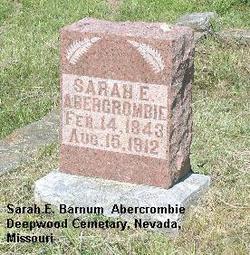 Sarah E. <i>Barnum</i> Abercrombie