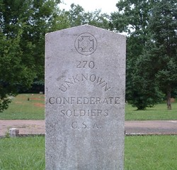 270 Unknown Confederate Soldiers