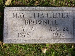 May Etta <i>Leiter</i> Brownell