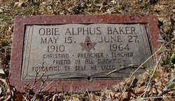 Obie Alphus Baker